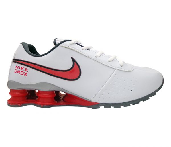 purchase cheap aaf97 0f2ed Tênis Nike Shox Classic Branco e Vermelho MOD 13235