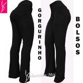 calça feminina preta GG(46),com bolsos na frente e atrás, tecido gorgurinho.
