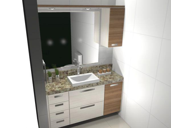 Armário Banheiro Classic, Planejado por metro  Florart moveis, Moveis Planej -> Banheiro Planejado Valor