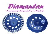Disco de desbaste Diamantado Turbo 150mm Grão 36