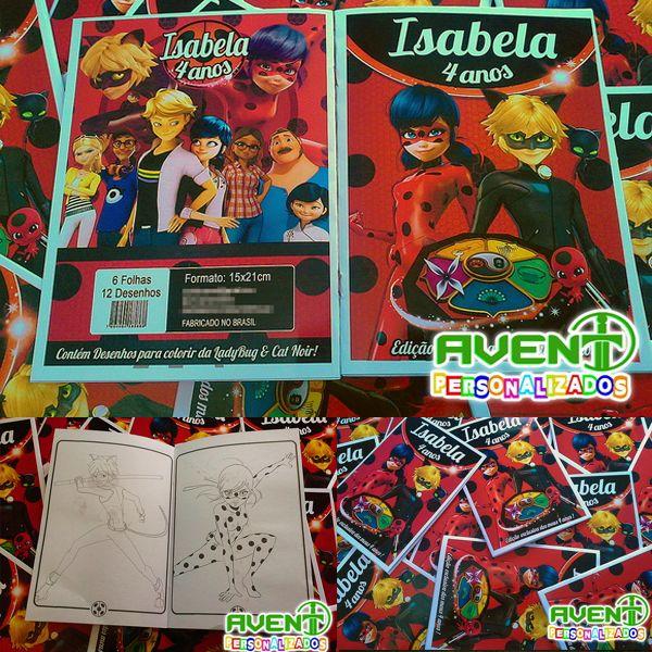 Revista De Atividades Para Colorir Miraculous Ladybug Cat Noir