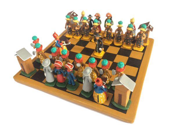 Jogo Tabuleiro Xadrez do Sertão e Cangaço Artesanal