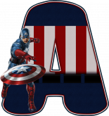 Alfabeto - Capitão America 4 - PNG
