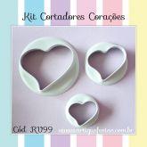 Kit Cortadores Corações