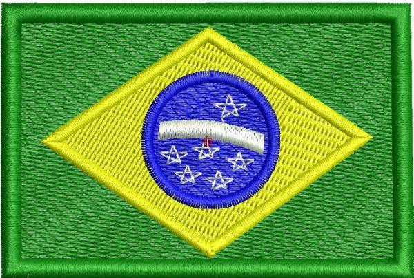 Bandeira do Brasil Matriz de Bordado