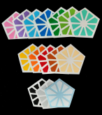 QJ Pyraminx Crystal kit com 15 cores