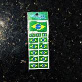 Cartela de Adesivos Brasil Flag