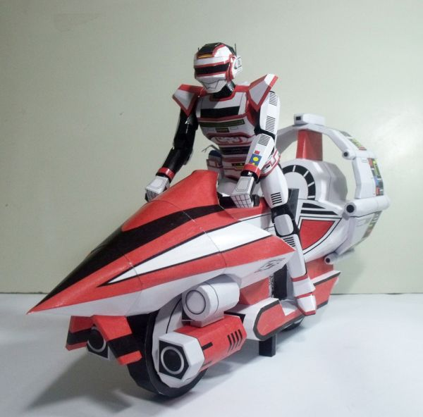 Allan Moto Space Papercraft - Arquivo