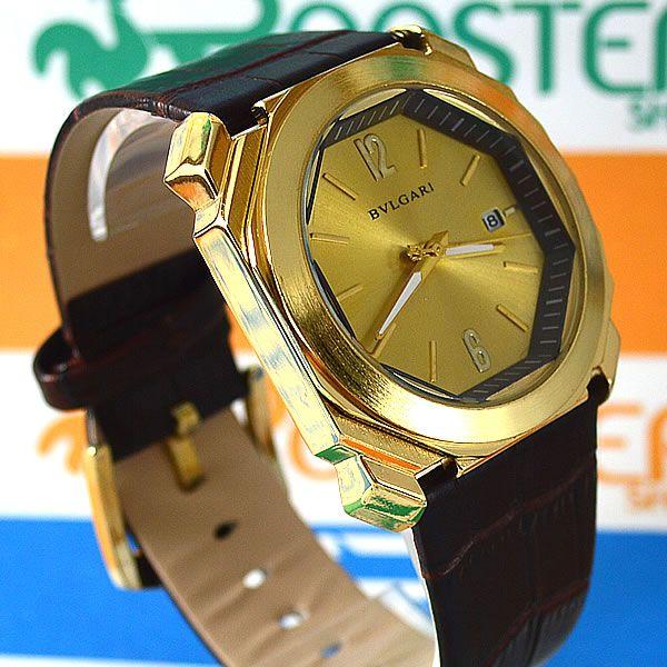 29bfa59237e Relógio Bvlgari Maserati Dourado Pulseira Couro Masculino À PROVA D´ÁGUA