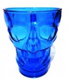 Caneca Acrílica Caveira 450 ml Azul