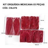 KIT ORQUÍDEA MEXICANA 03 PEÇAS
