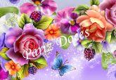 Papel Arroz Flores A4 007 1un