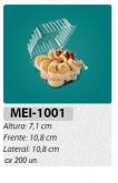 MEI-1001 EMBALAGEM ARTICULADA TRANSPARENTE 200 UN.