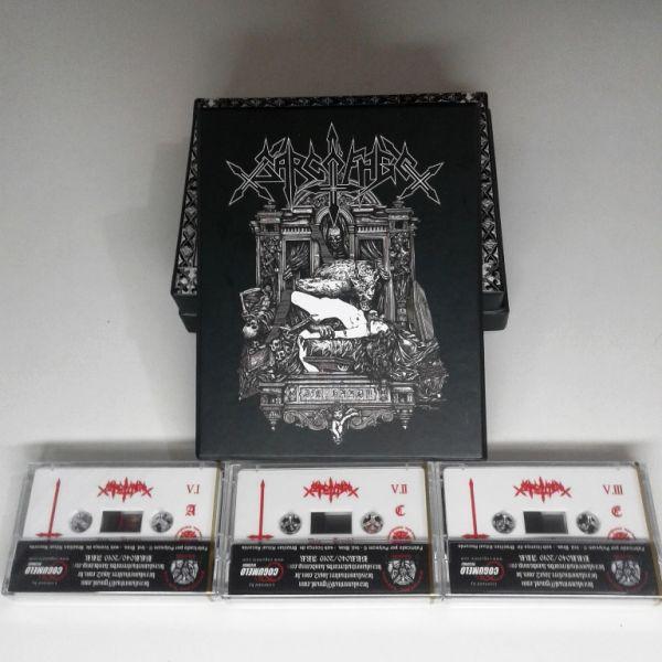 SARCOFAGO - Die... Hard!!! - TAPE BOXET (3x Tapes, White Tape)