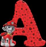Alfabeto - Patrulha Canina - Marshall 2 - PNG
