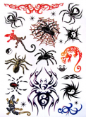 Kit 60 Tatuagens Aranha