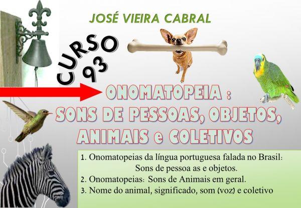 93.ONOMATOPEIA - SONS DE PESSOAS,OBJETOS,ANIMAIS e COLETIVOS