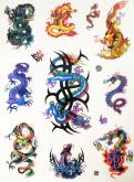 Kit 60 Tatuagens Dragões