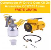 Compressor Ar Direto Com Kit De Acessórios Cd12151 Tekna + FRETE GRÁTIS