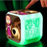 Relógio Abajur LED Masha e o Urso