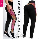 Legging bolsos plus size (48/50-52/54), cintura alta, tecido preto gramatura alta(grosso)