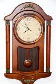 Relógio De Parede Com Pêndulo Em Madeira Vintage Retrô 56 Cm