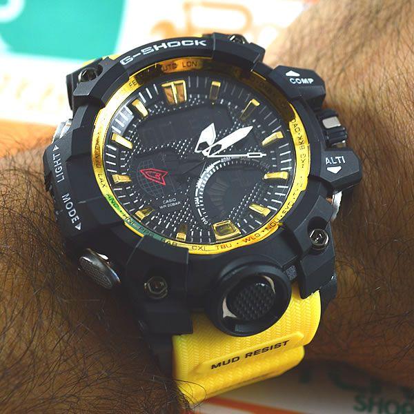 b8796622bdc ... Rel gio Casio G Shock Mudmaster Preto Pulseira Amarela Masculino