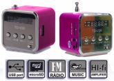 Super Caixa De Som Amplificada TD V26 Usb Micro Sd Fm MP3