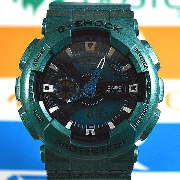 35c4d8f008e Relógio Casio G Shock GA-110 Verde Unissex à prova d´água + Caixa ...