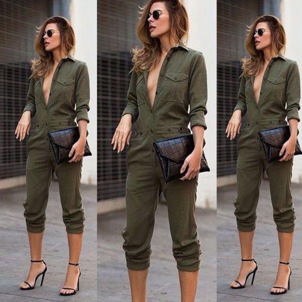 Macacão verde militar cod 276