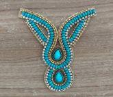 *Cabedal Indiano Novo Azul (Par)