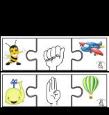 Jogo de Encaixe com Alfabeto MANUAL Ilustrado