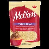 Confeito Vermicelli de Chocolate Branco Melken 400g 1un