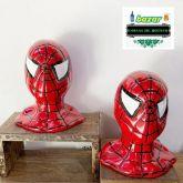 cabeça cerâmica homem aranha