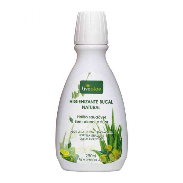 Enxaguante Bucal Menta+Aloe Vera Natural