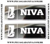 Emblema Lateral Traseiro Niva o Par (Novo) Ref. 0439