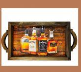 Bandeja de Madeira rustica bebidas