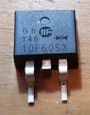 DIODO DUPLO 10F60S3 TO-263 (SMD)