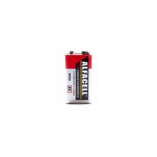 Bateria 9V Alfacell 6F22