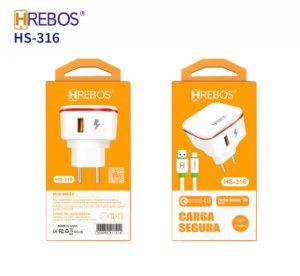 Kit Carregador Tipo C HREBOS HS-316