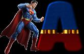 Alfabeto - Super Homem 1 - PNG