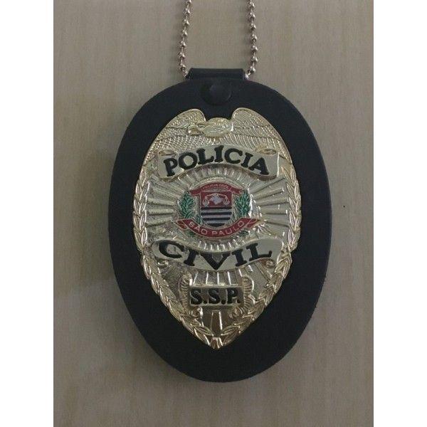 DISTINTIVO POLÍCIA CIVIL SP DOURADO OU PRATA ÁGUIA