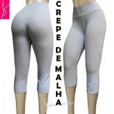 corsários/calça capri P-M-G cintura alta, crepe de malha, gramatura média