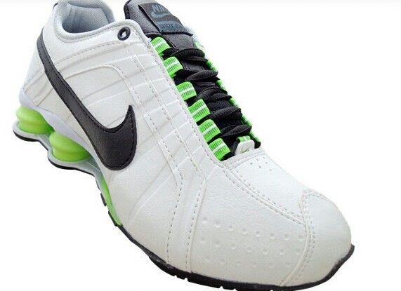 nike shox tlx branco e verde