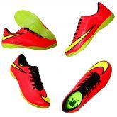 587dfedd6ae20 Chuteira Futsal Nike Hypervenom Salmão e Amarelo