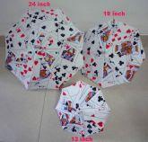 Parasol com desenho de cartas e DVD  #1304