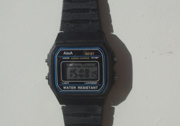 9b6ae53e26b Relógio Digital Aqua Clássico AQ 81 Alarm. Cronôm. Original - Loja ...
