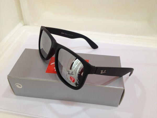 08706550e7466 Óculos de Sol Ray-Ban RB4165 Justin Prata - Lente Prata Espelhado ...