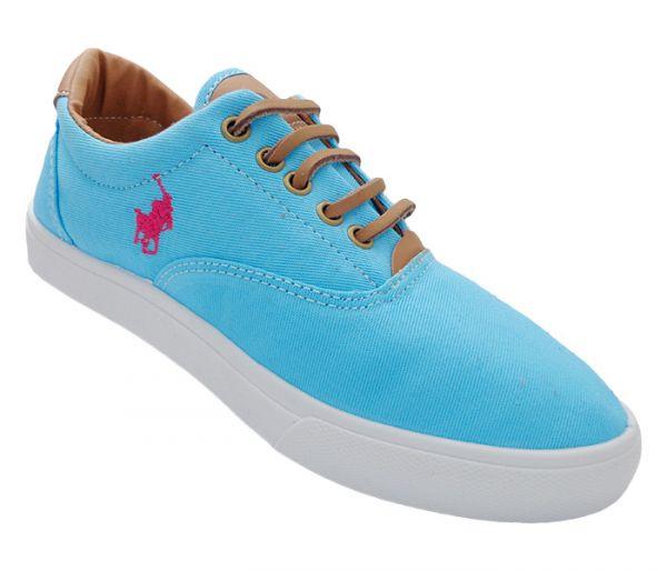 5dc1b1a5c4ddd Tênis Polo Ralph Lauren Vaugh Azul Bebê e Rosa - - Mundo dos calçados