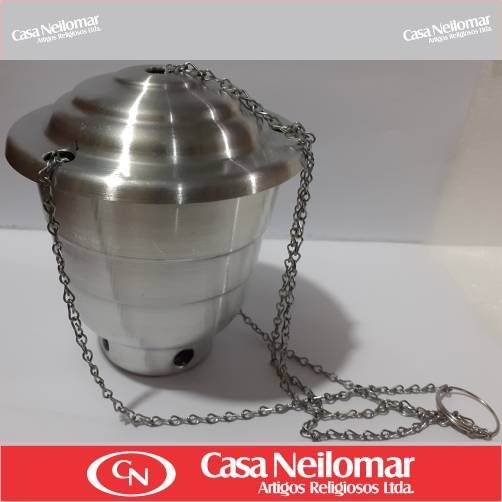 004012 - Turíbulo de Alumínio Pequeno